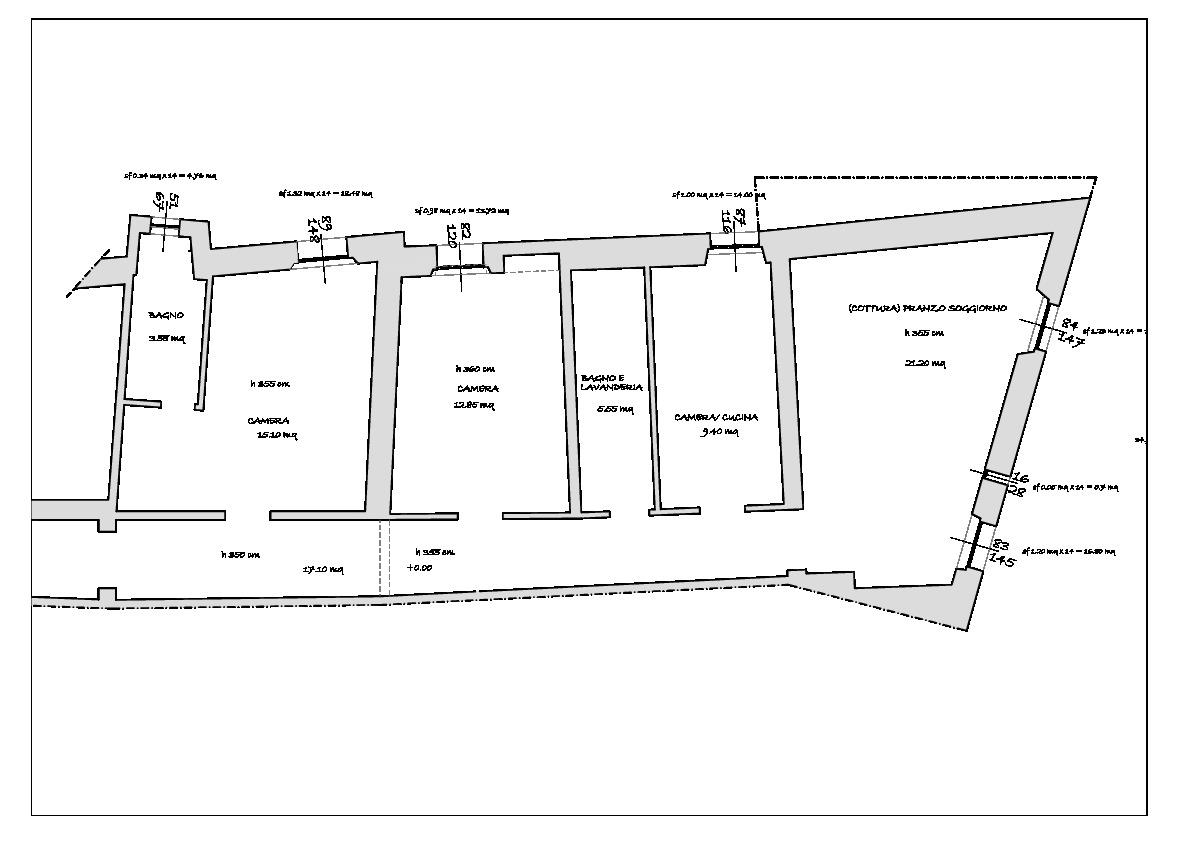 Planimetria 3/3 per rif. 787