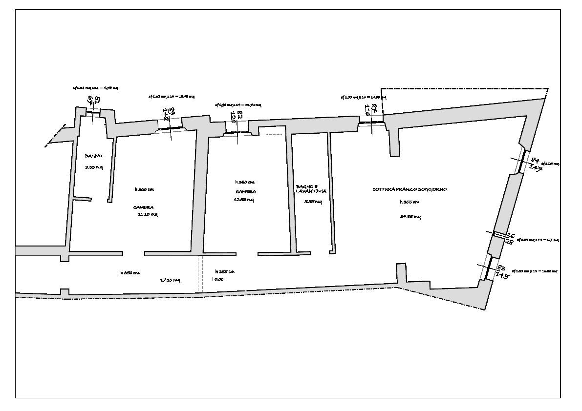 Planimetria 1/3 per rif. 787