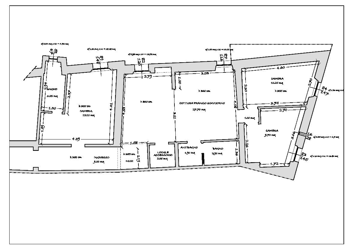 Planimetria 2/3 per rif. 787