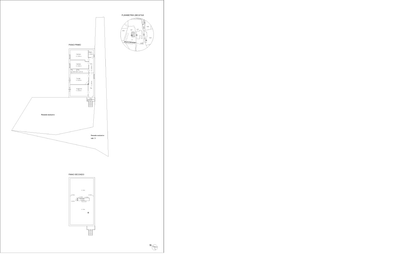 Planimetria 1/1 per rif. 796