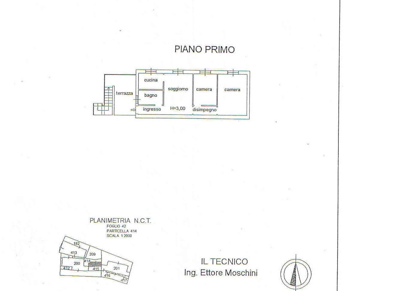 Planimetria 1/2 per rif. 840