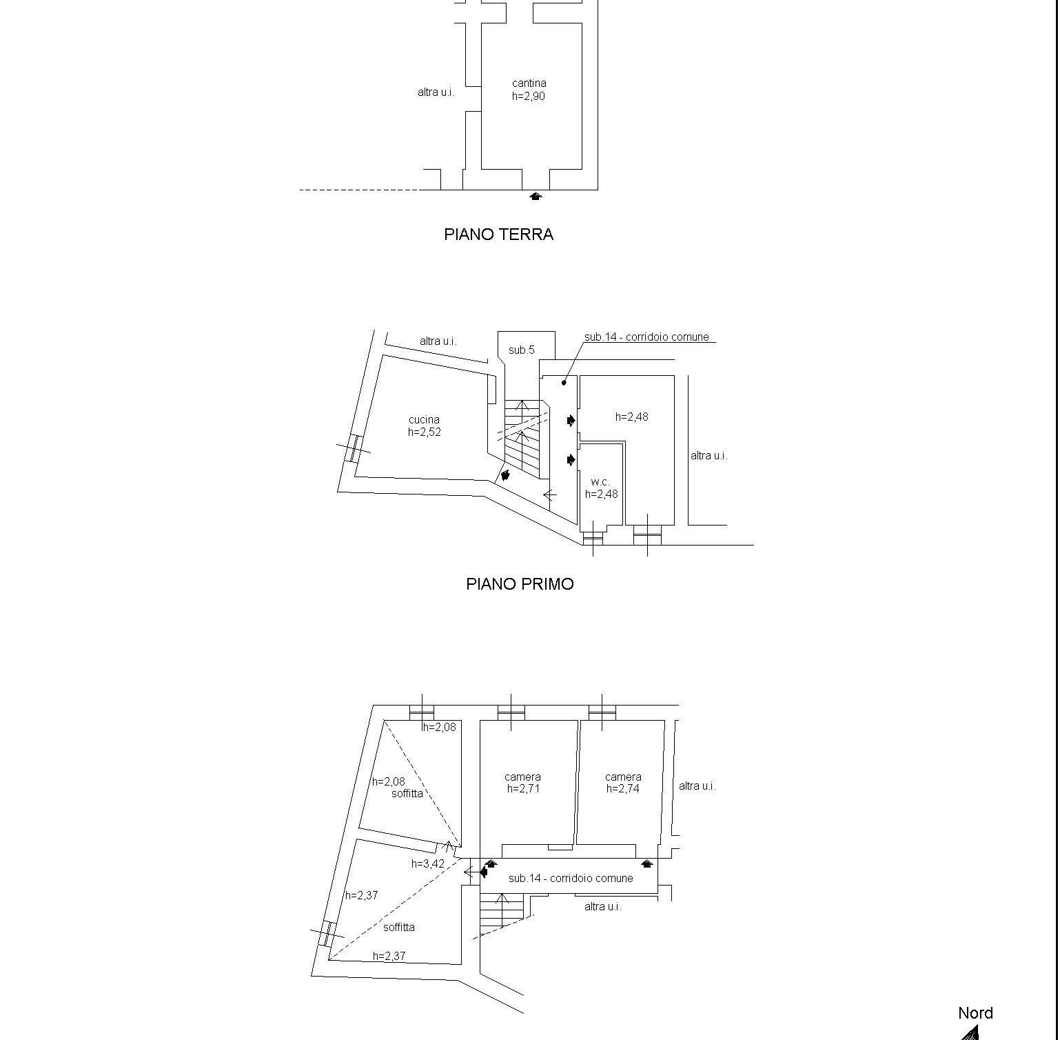 Planimetria 1/2 per rif. 809