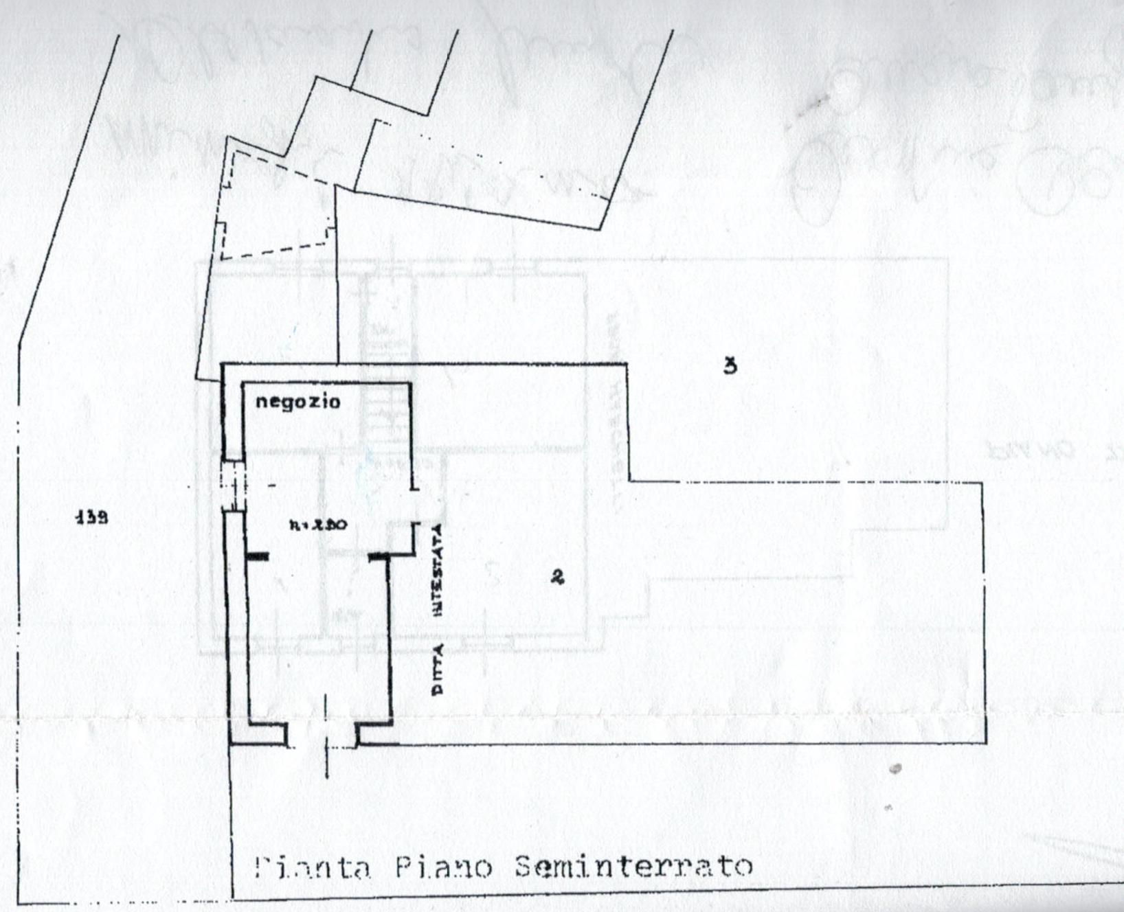 Planimetria 3/4 per rif. 812