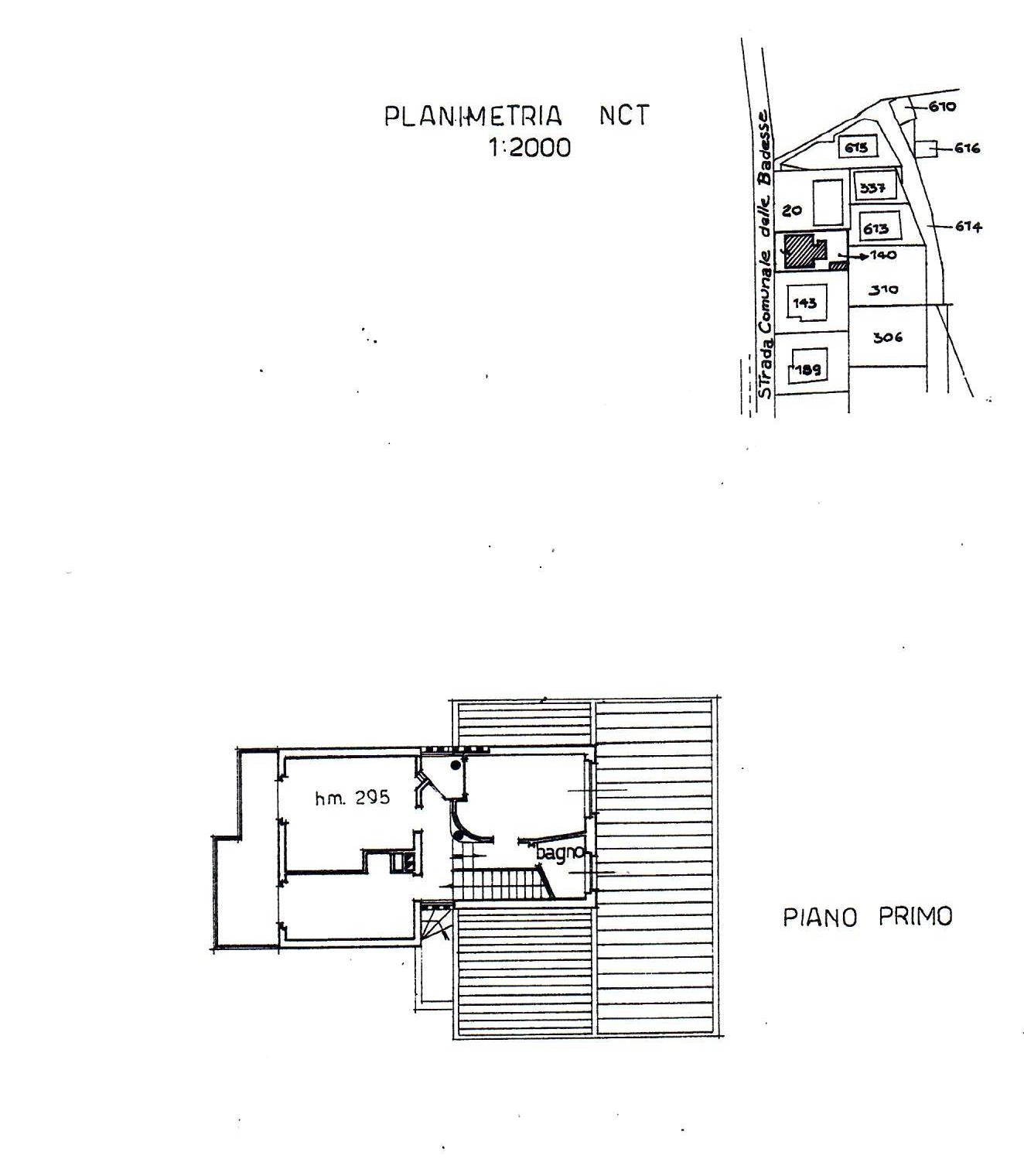Planimetria 1/2 per rif. 823
