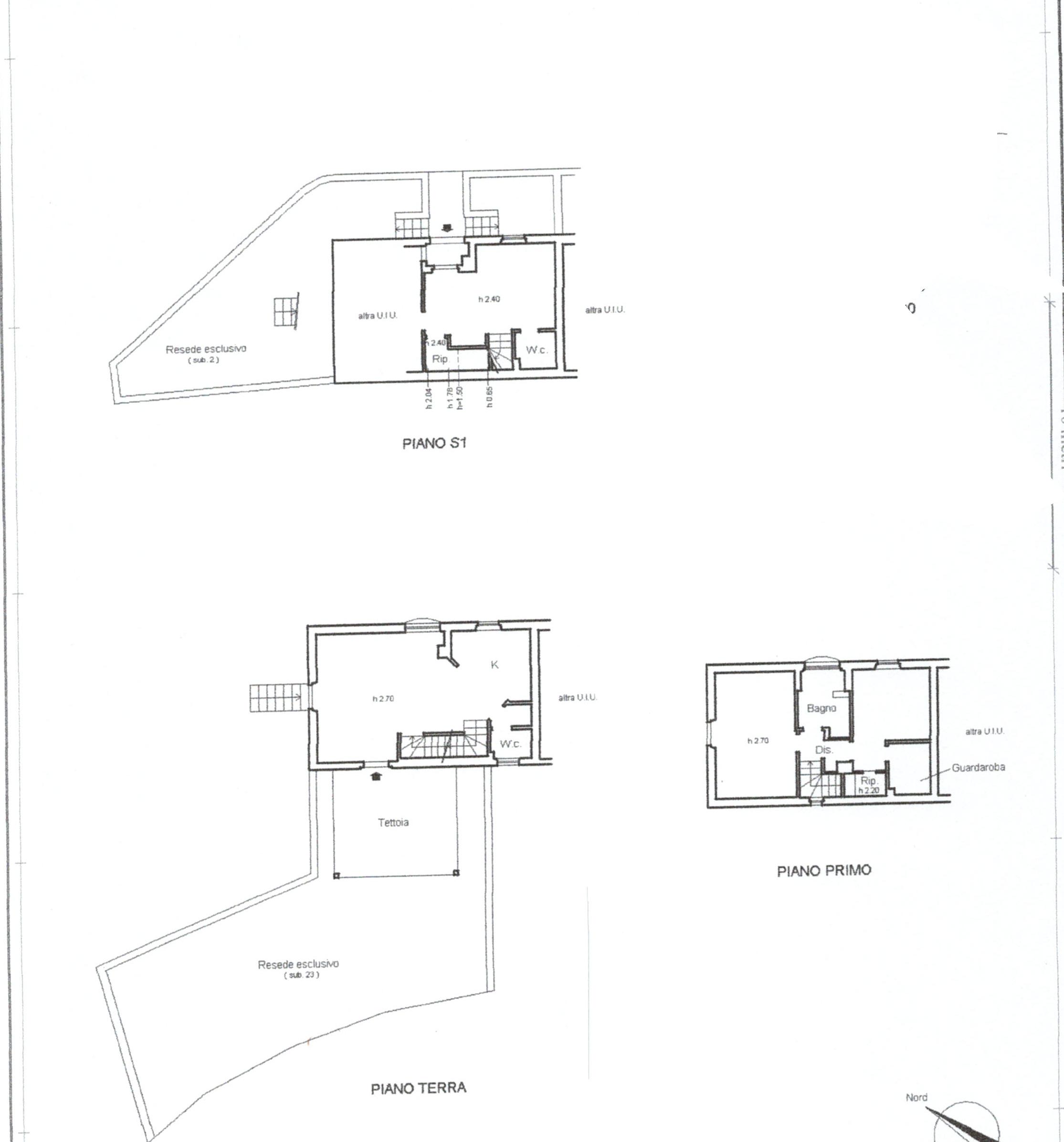 Planimetria 1/3 per rif. 824