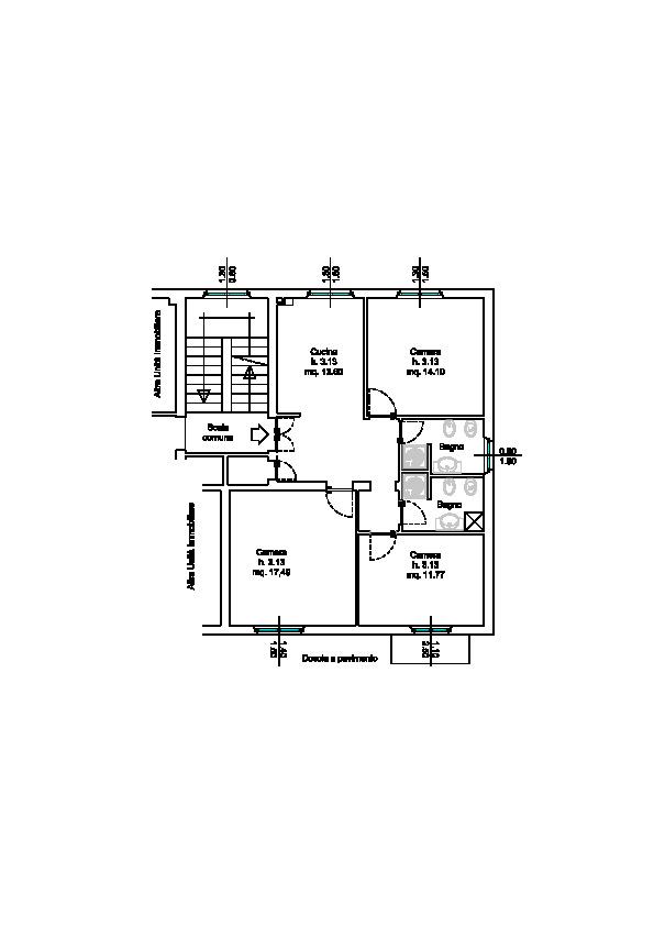 Appartamento in vendita, rif. 827 (Planimetria 1/1)