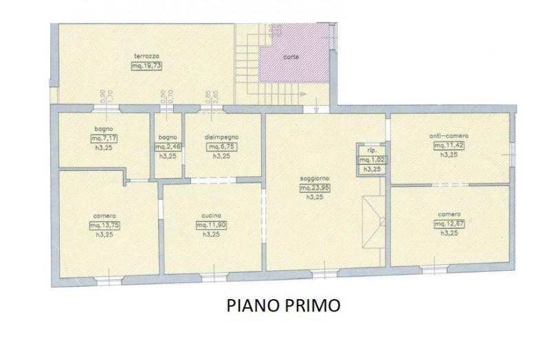 Casa semindipendente in vendita, rif. 851 (Planimetria 1/2)