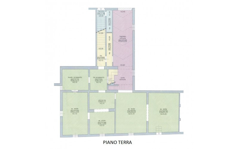Casa semindipendente in vendita, rif. 851 (Planimetria 2/2)