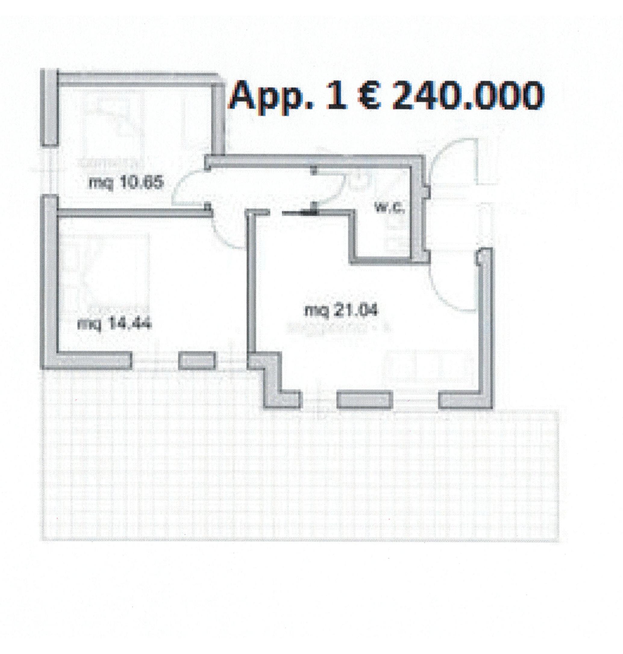 Appartamento in vendita, rif. 870 (Planimetria 1/1)
