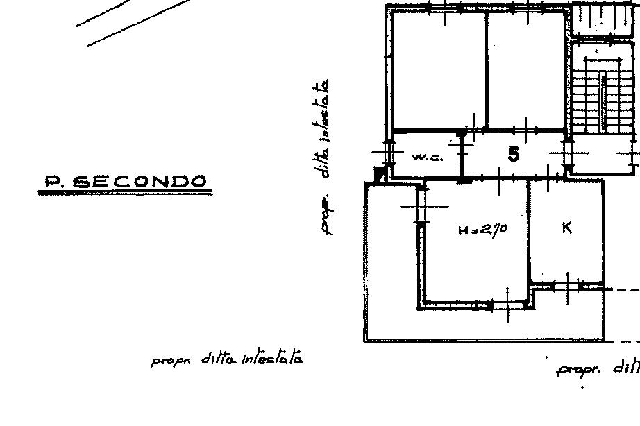 Planimetria 1/3 per rif. 872