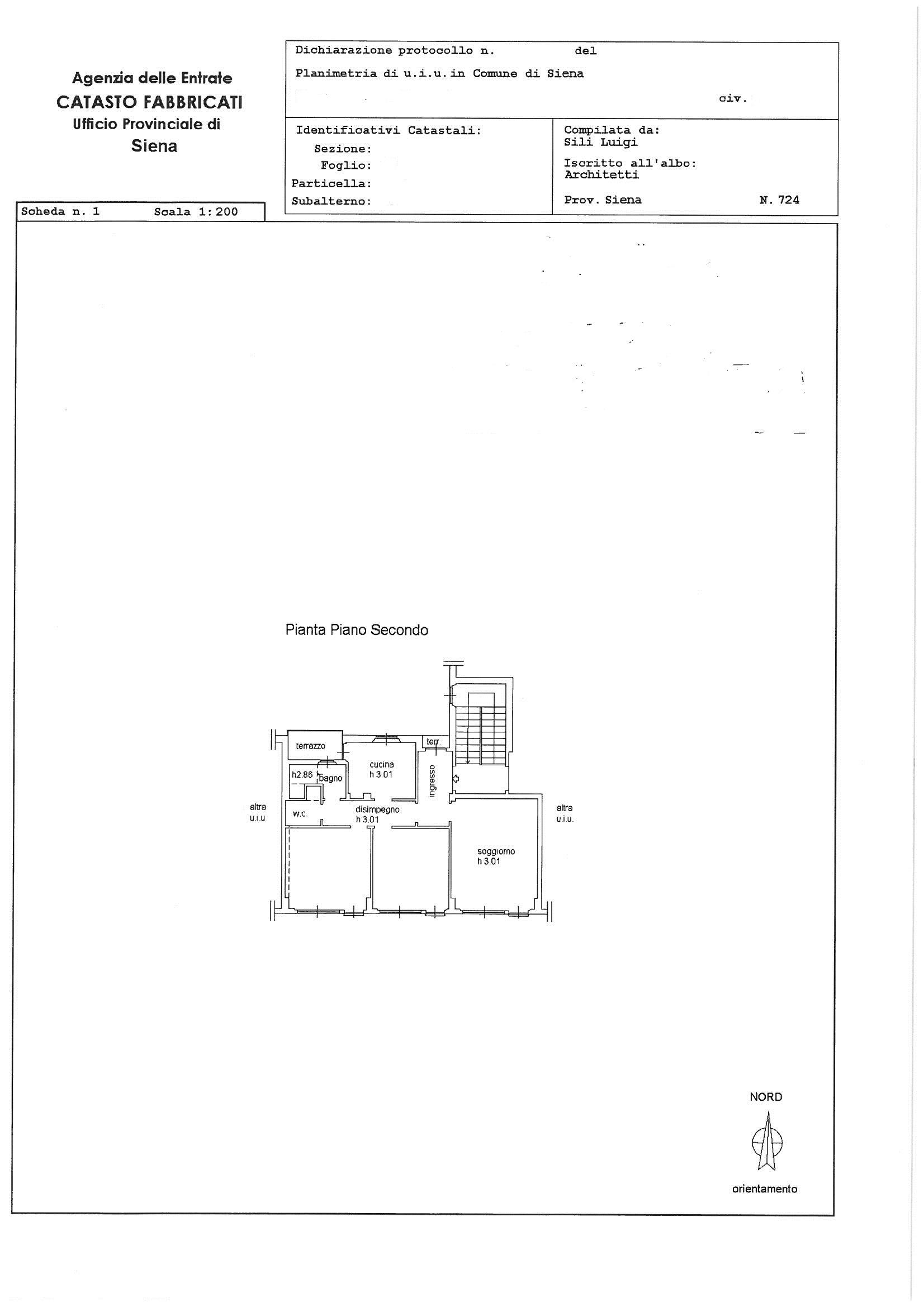 Planimetria 1/1 per rif. 1178