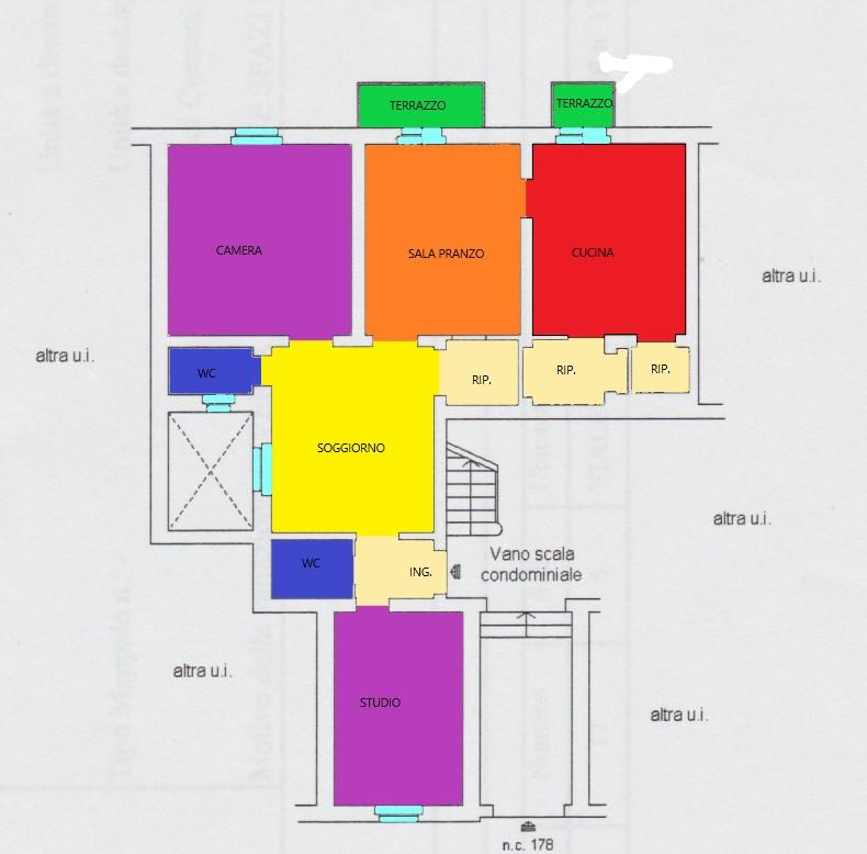 Planimetria 1/1 per rif. A205