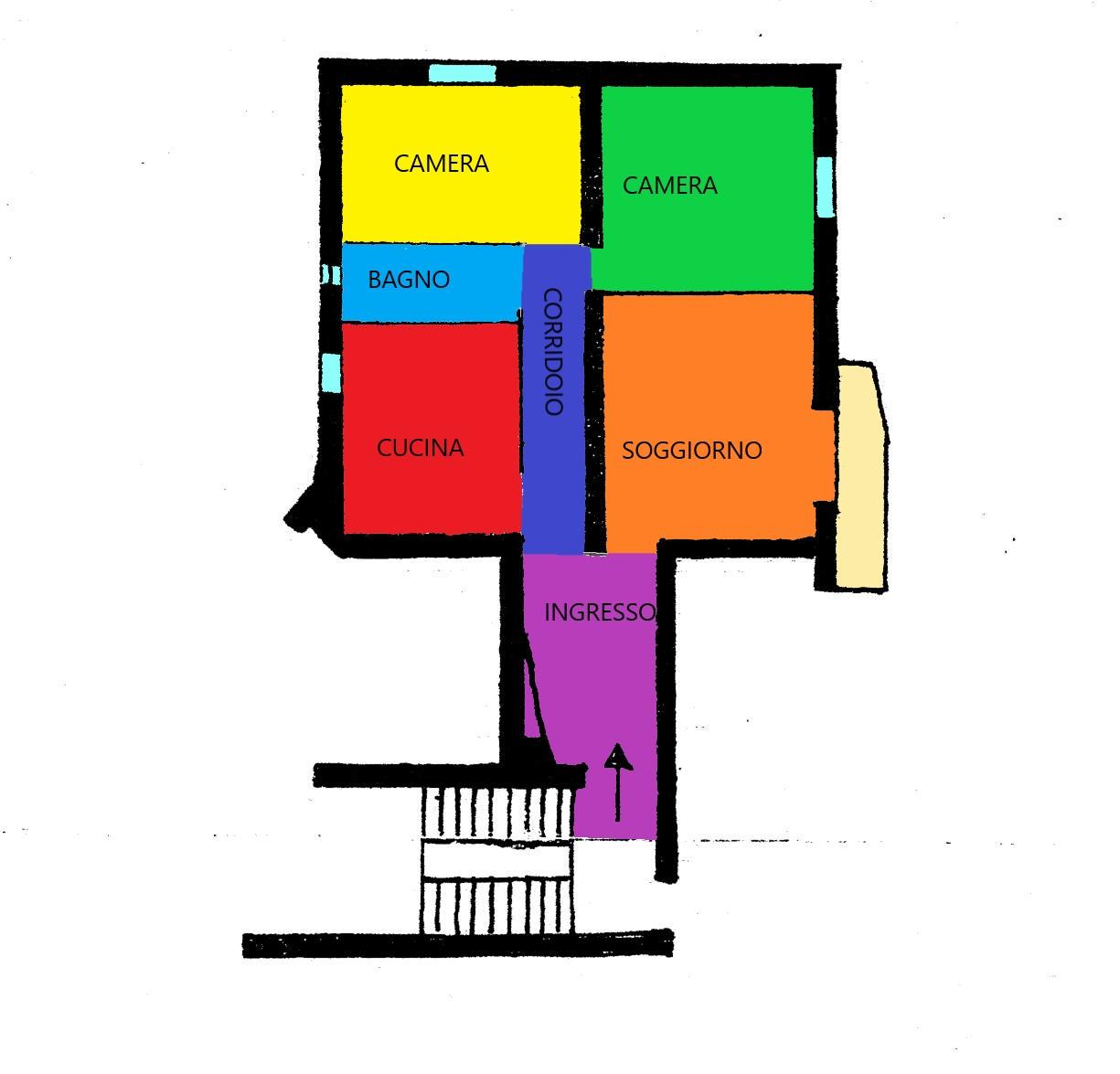 Planimetria 1/1 per rif. A206