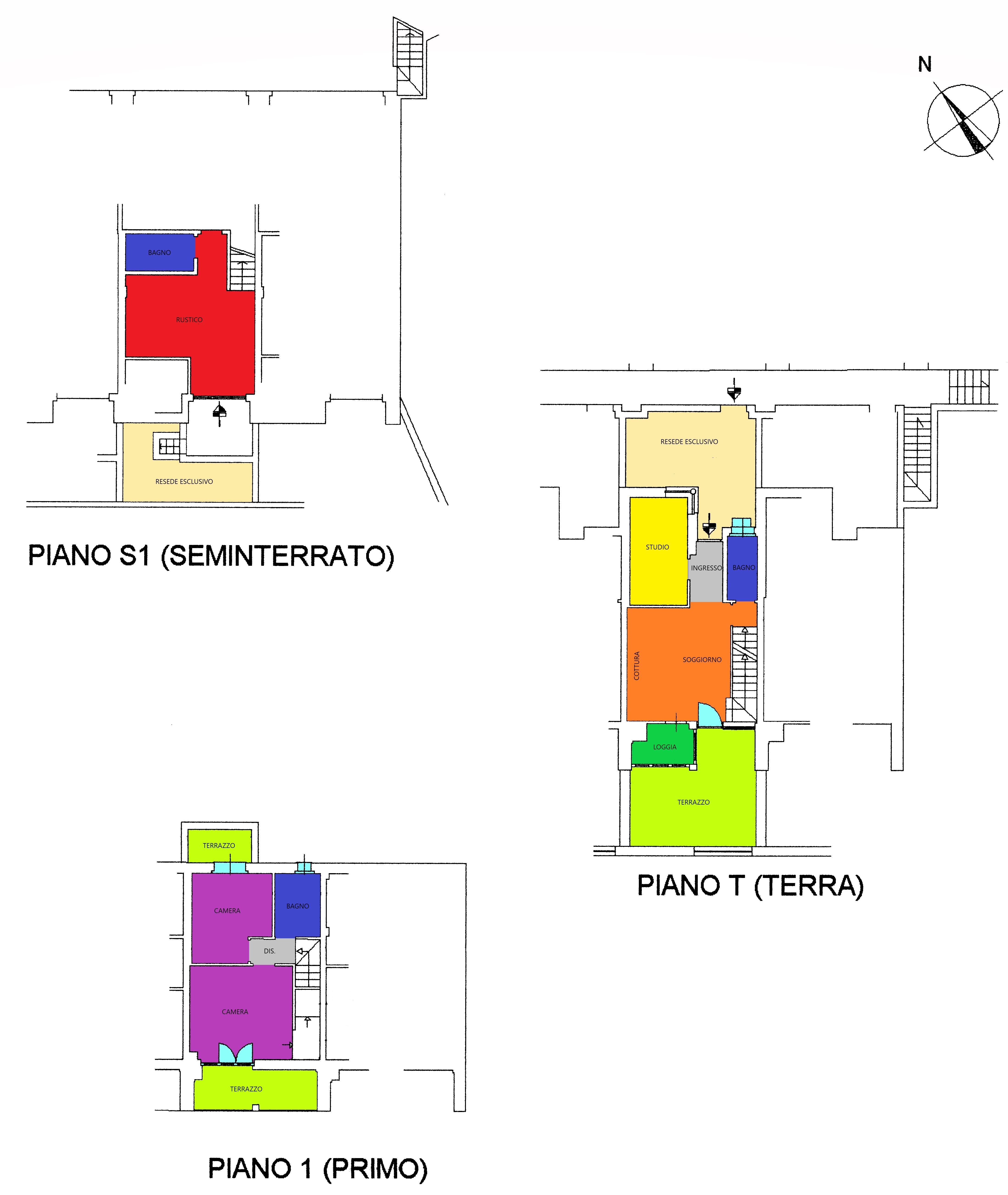 Planimetria 1/1 per rif. A389