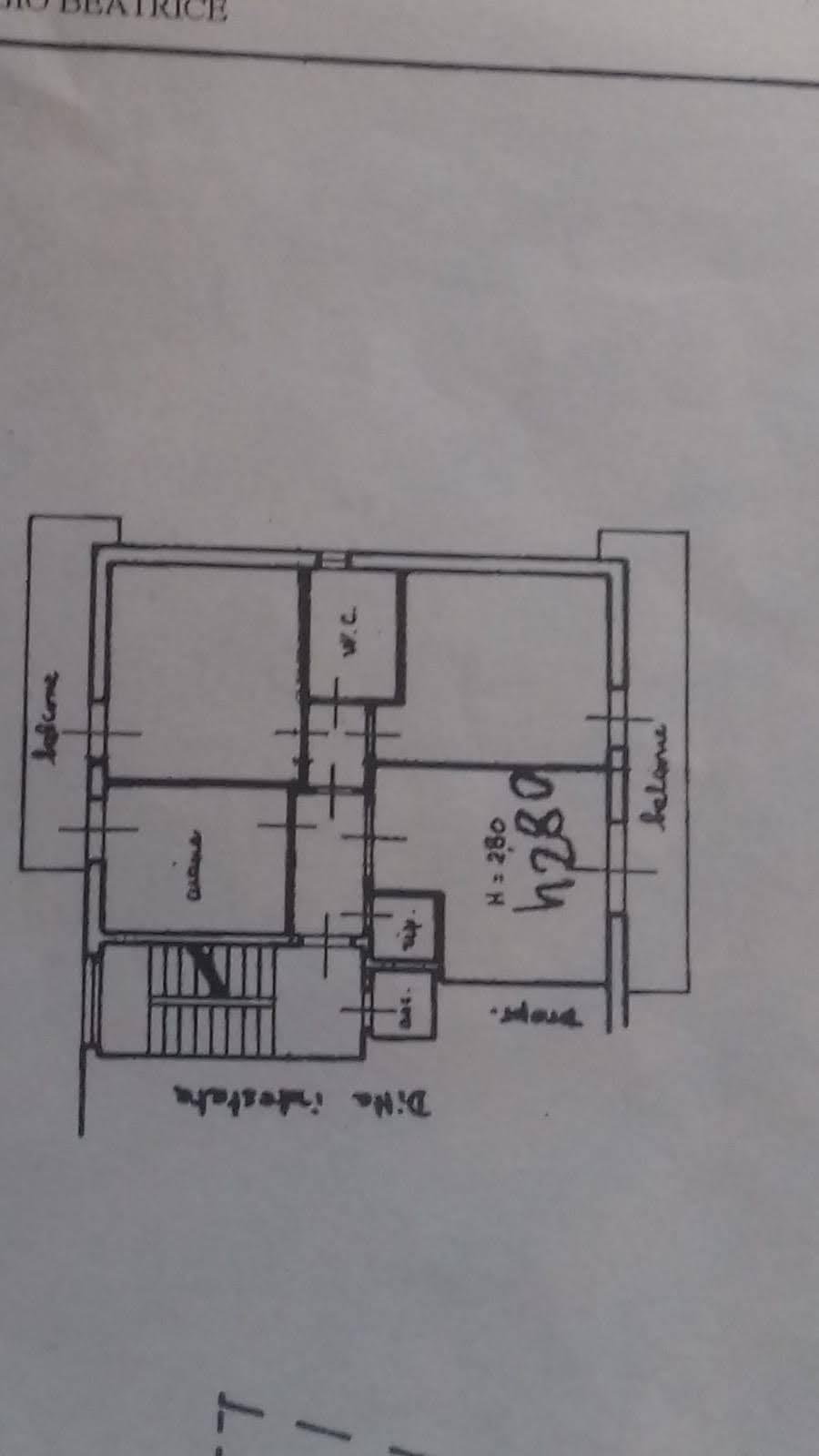 Planimetria 1/1 per rif. p608v