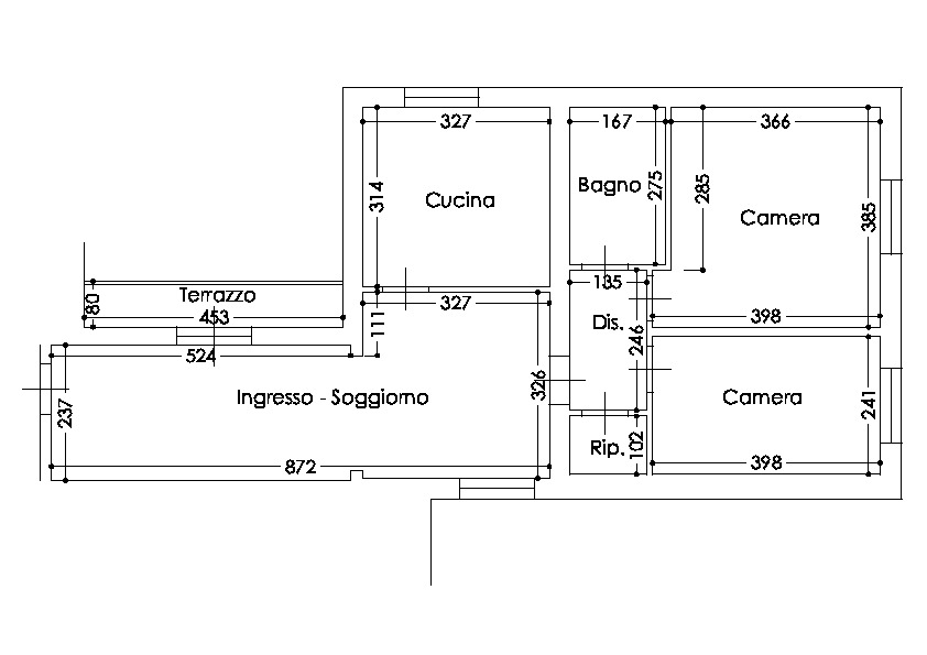 Planimetria /1 per rif.  p645v
