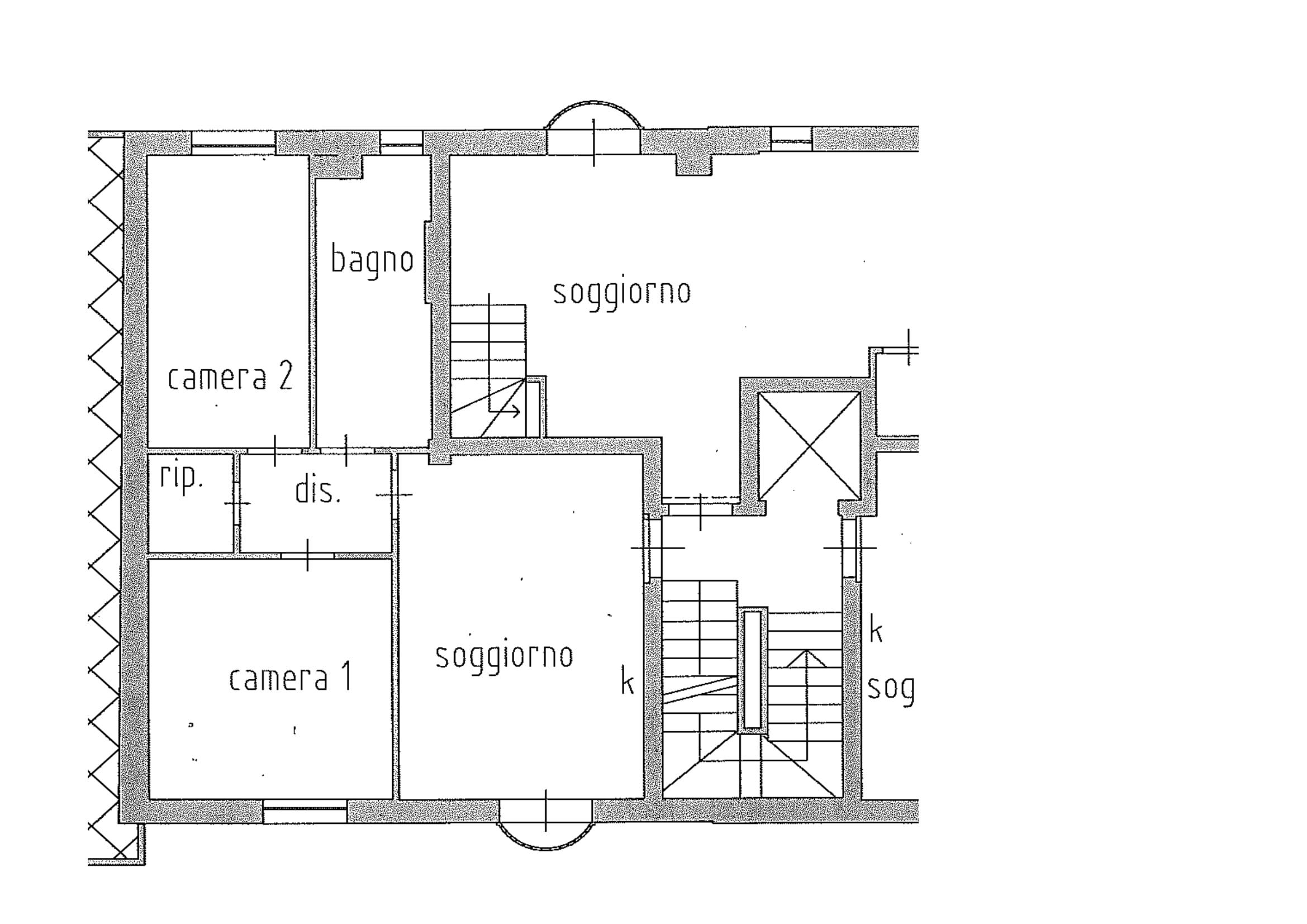 Planimetria 1/1 per rif. A135