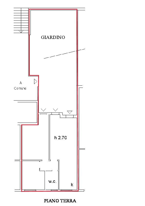 Planimetria 1/1 per rif. A250