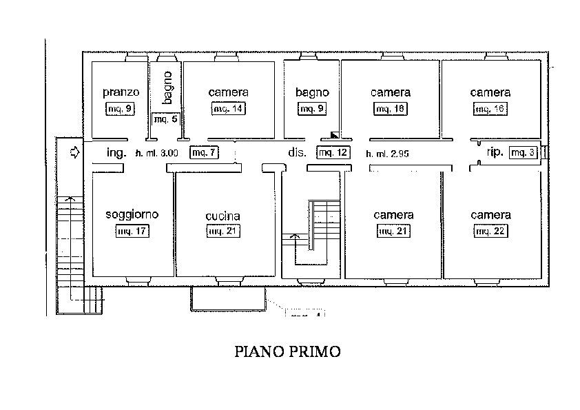 Planimetria 2/5 per rif. R500