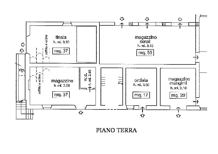 Planimetria 1/5 per rif. R500