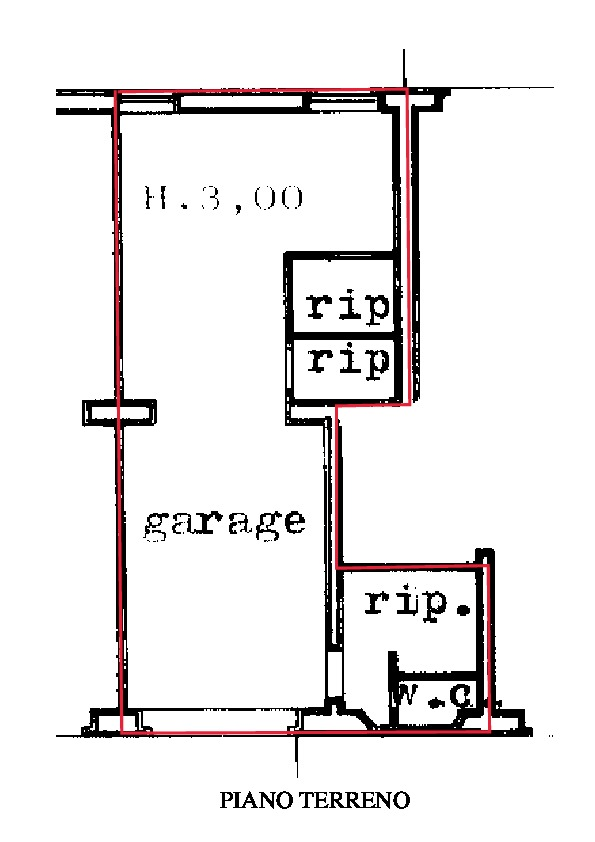 Planimetria 2/2 per rif. A215