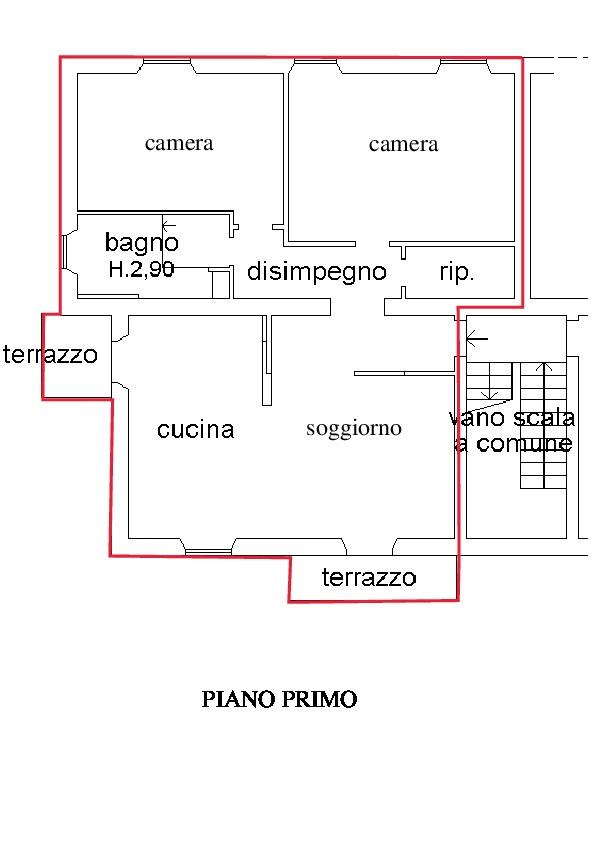 Planimetria 1/2 per rif. A215