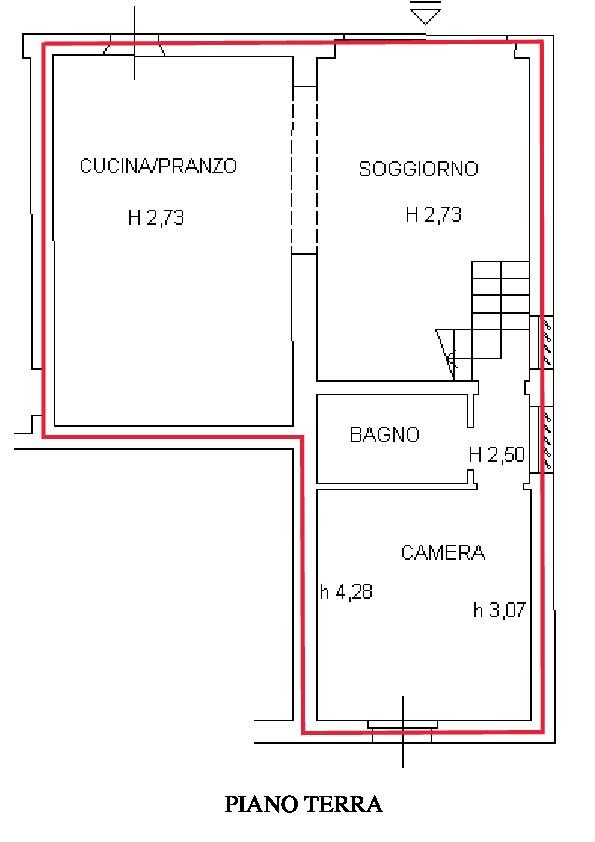 Planimetria 1/2 per rif. R510