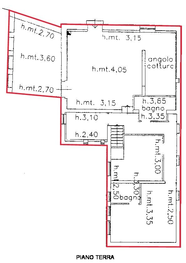 Planimetria 1/2 per rif. R540