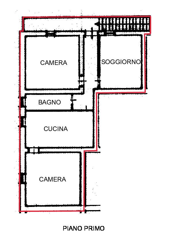 Planimetria 1/4 per rif. R450