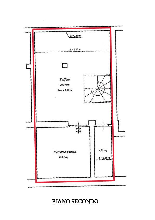 Planimetria 2/2 per rif. A830