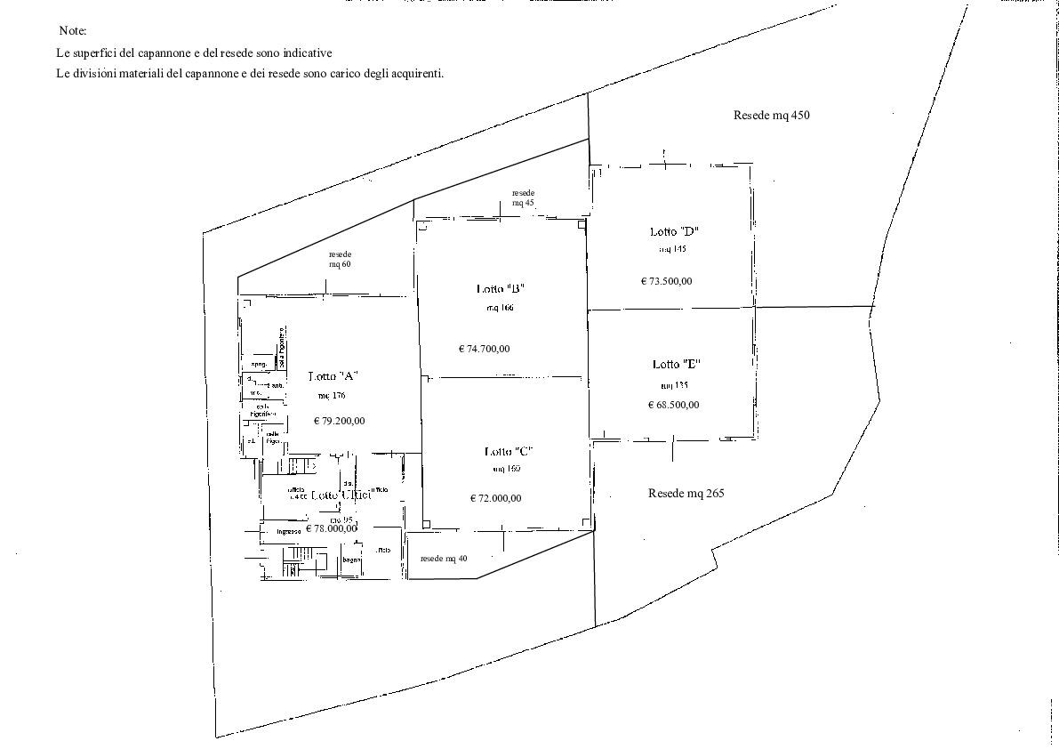 Planimetria 2/2 per rif. D100