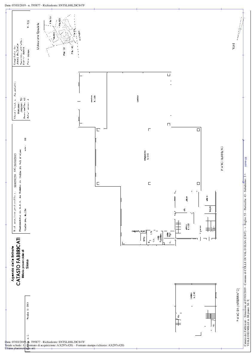 Planimetria 1/2 per rif. D100