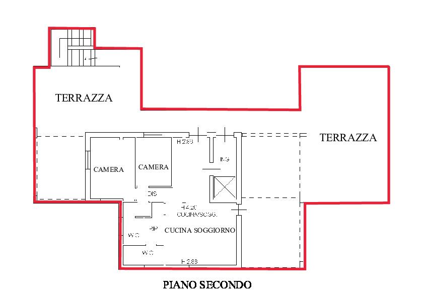 Planimetria 1/2 per rif. A900