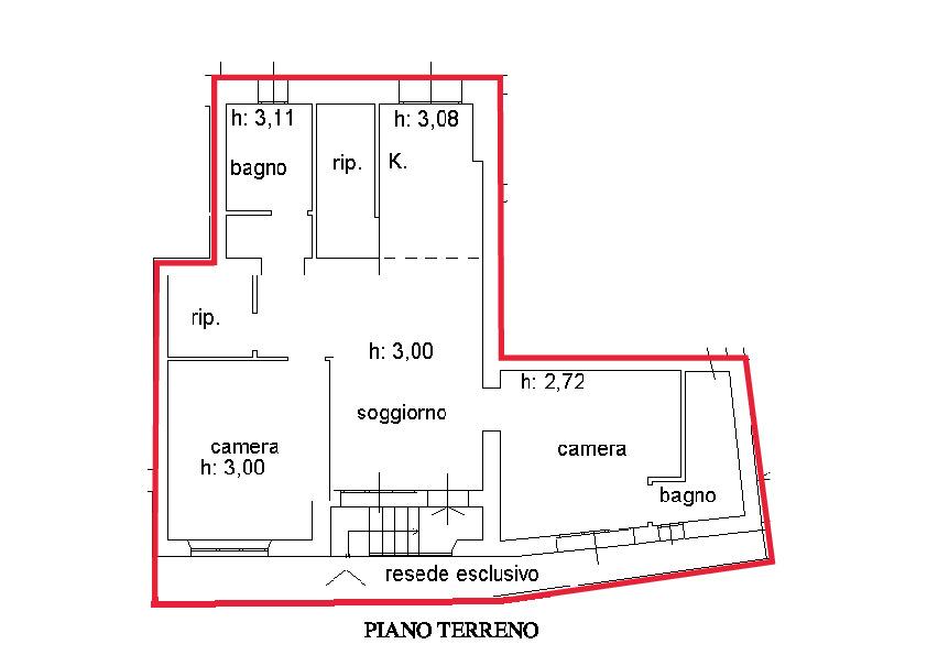 Planimetria 1/1 per rif. A460