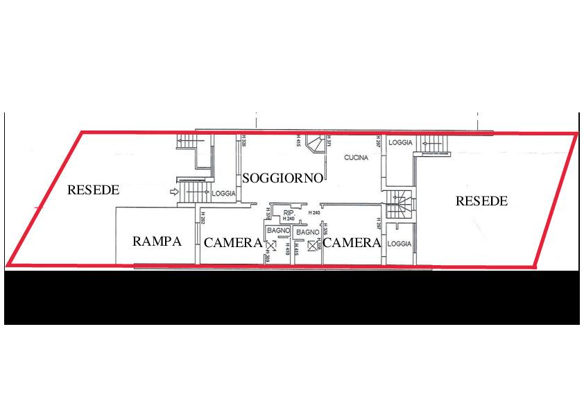 Planimetria 1/2 per rif. A225