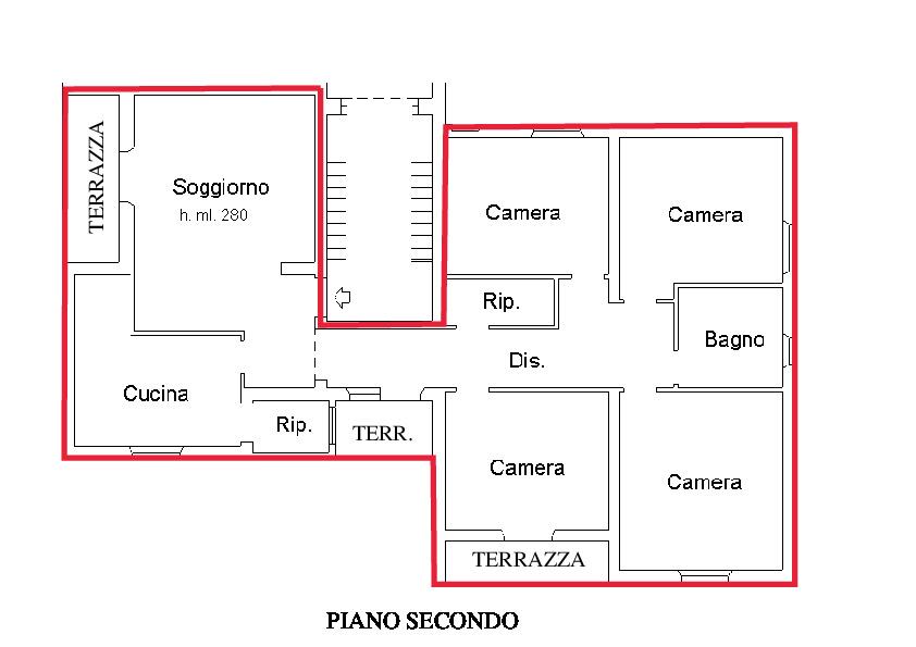 Planimetria 1/2 per rif. A345
