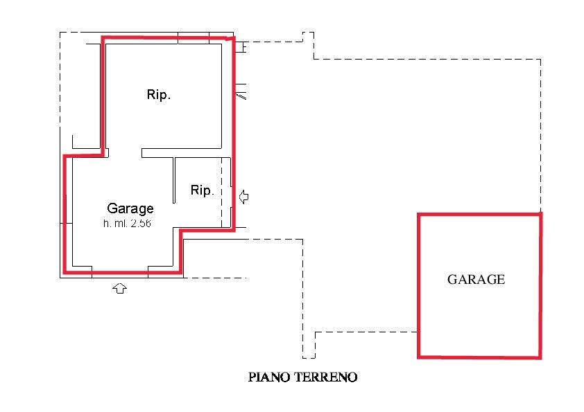 Planimetria 2/2 per rif. A345