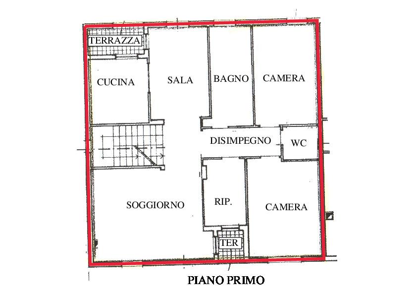 Planimetria 3/5 per rif. A600