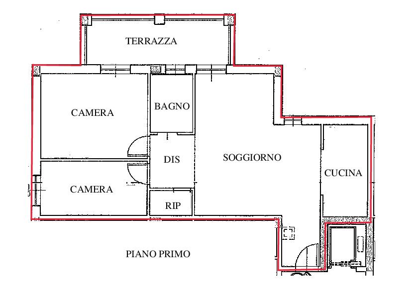 Planimetria 1/1 per rif. A111