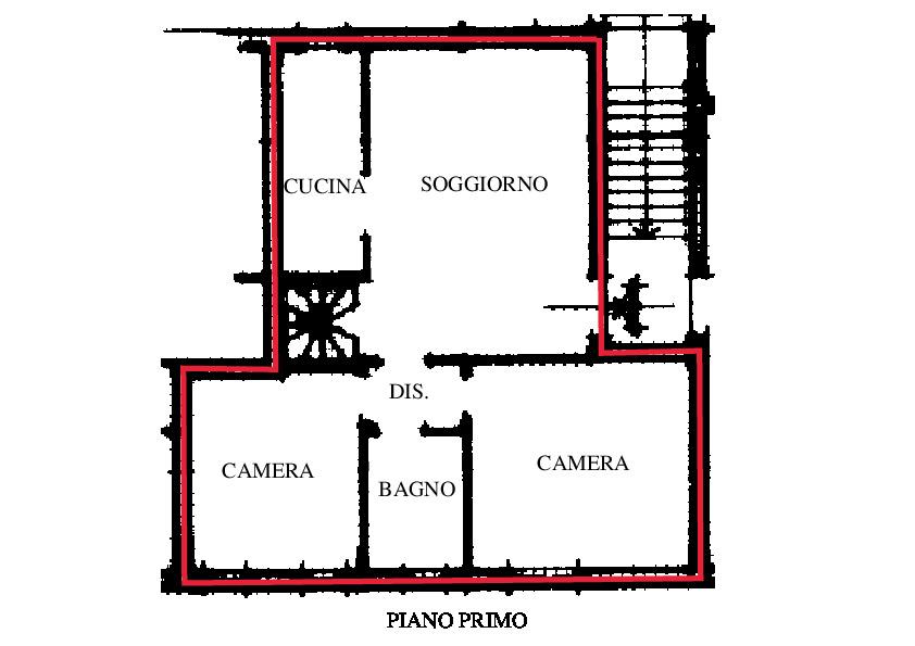 Planimetria 1/3 per rif. RD150