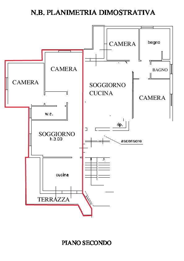 Planimetria 1/2 per rif. RD300