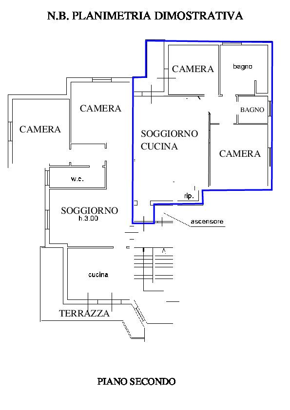 Planimetria 1/2 per rif. RD400