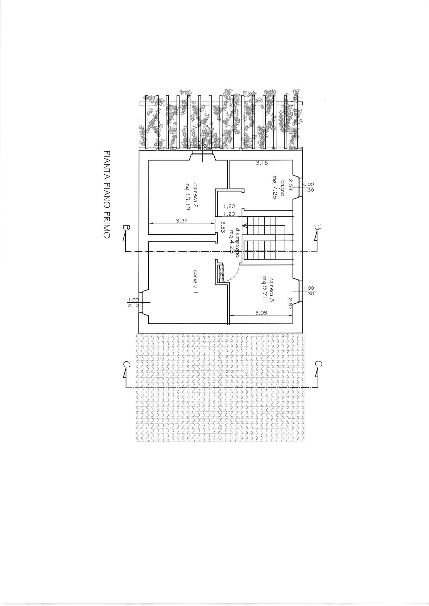 Planimetria 2/3 per rif. CIND CAST  180
