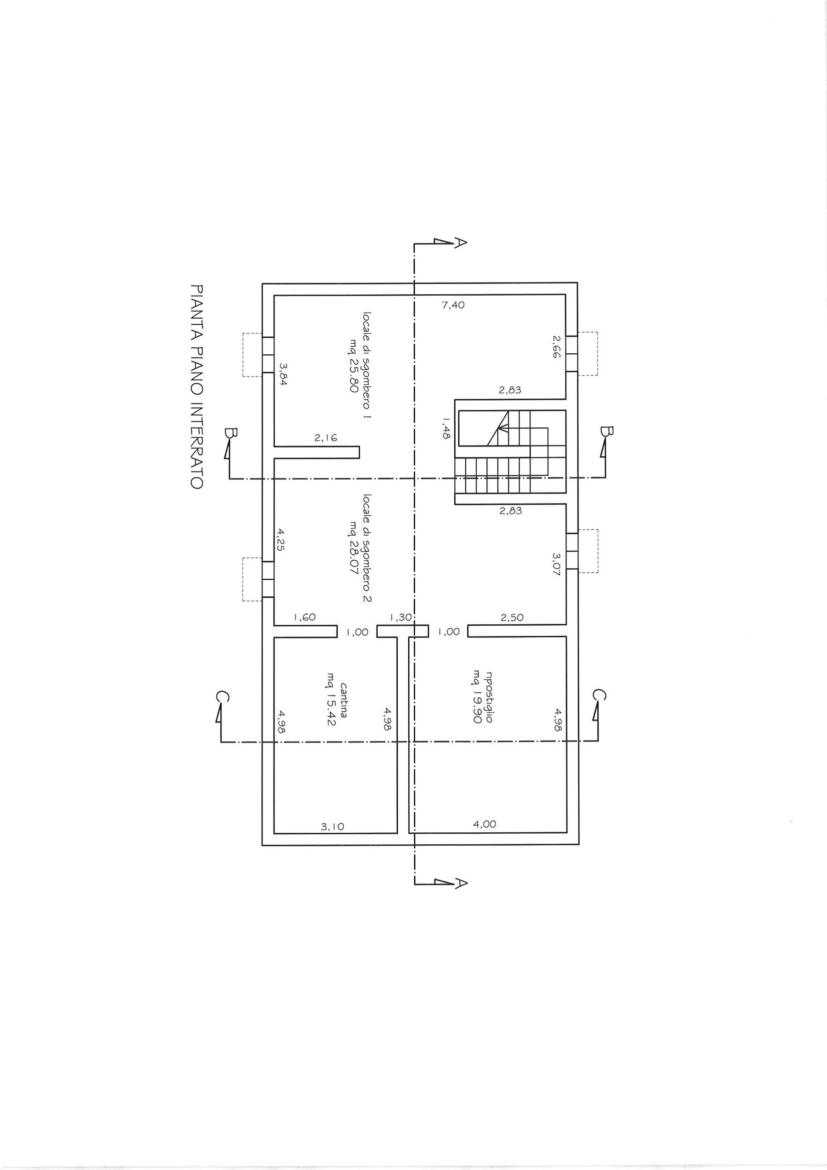 Planimetria 1/3 per rif. CIND CAST  180