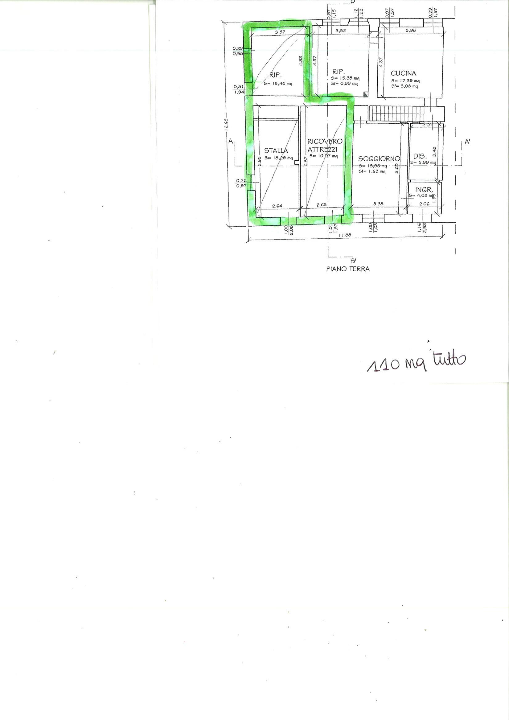 Planimetria 1/2 per rif. CAPF PSP 38