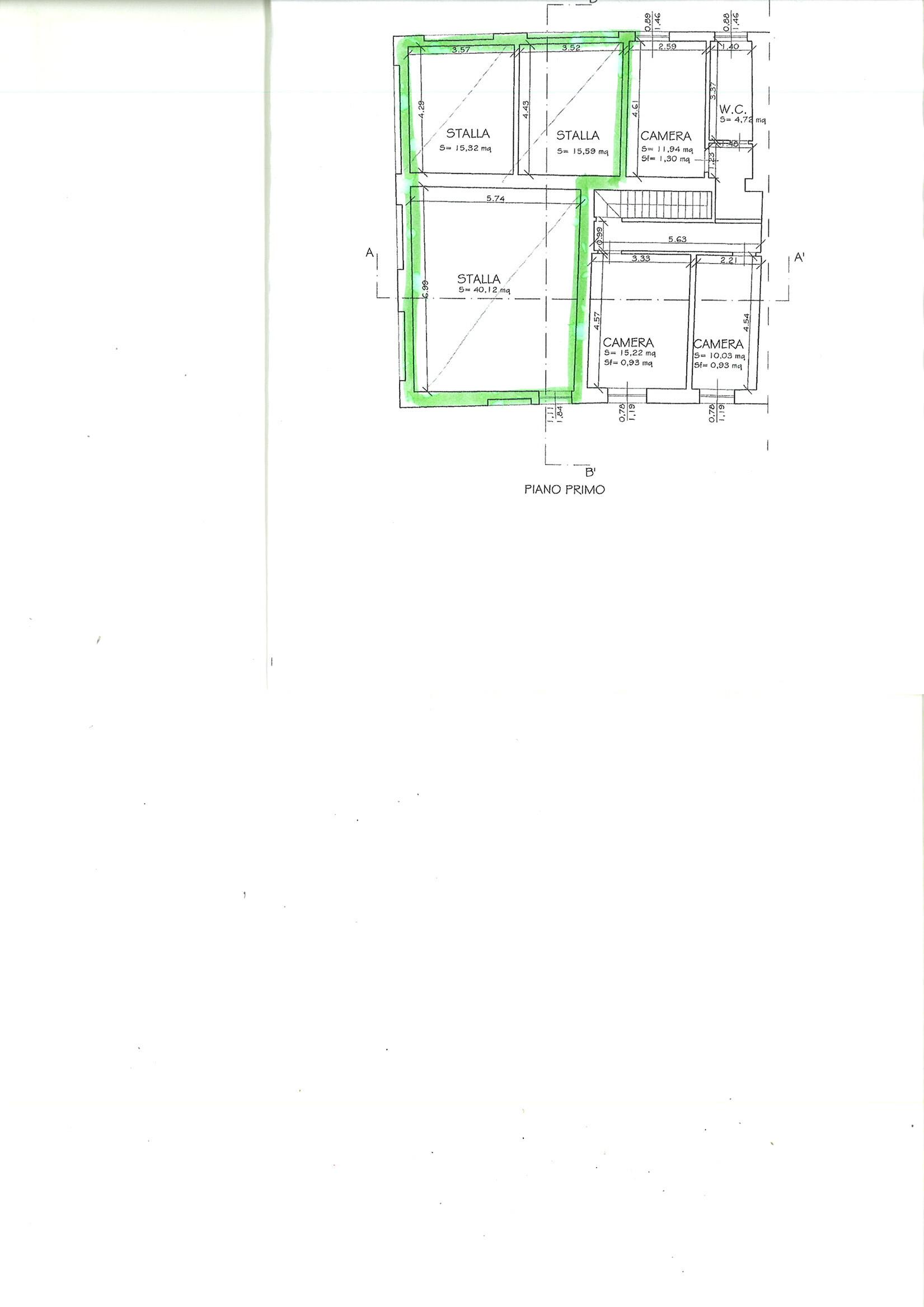 Planimetria 2/2 per rif. CAPF PSP 38
