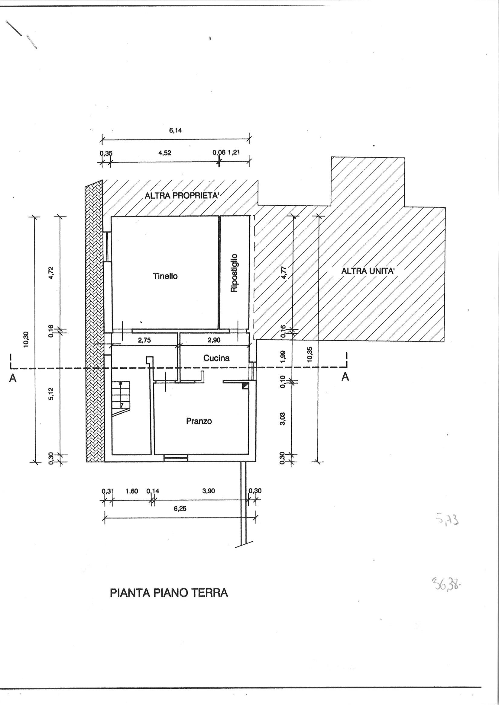 Planimetria 1/1 per rif. CIND SEGR 125