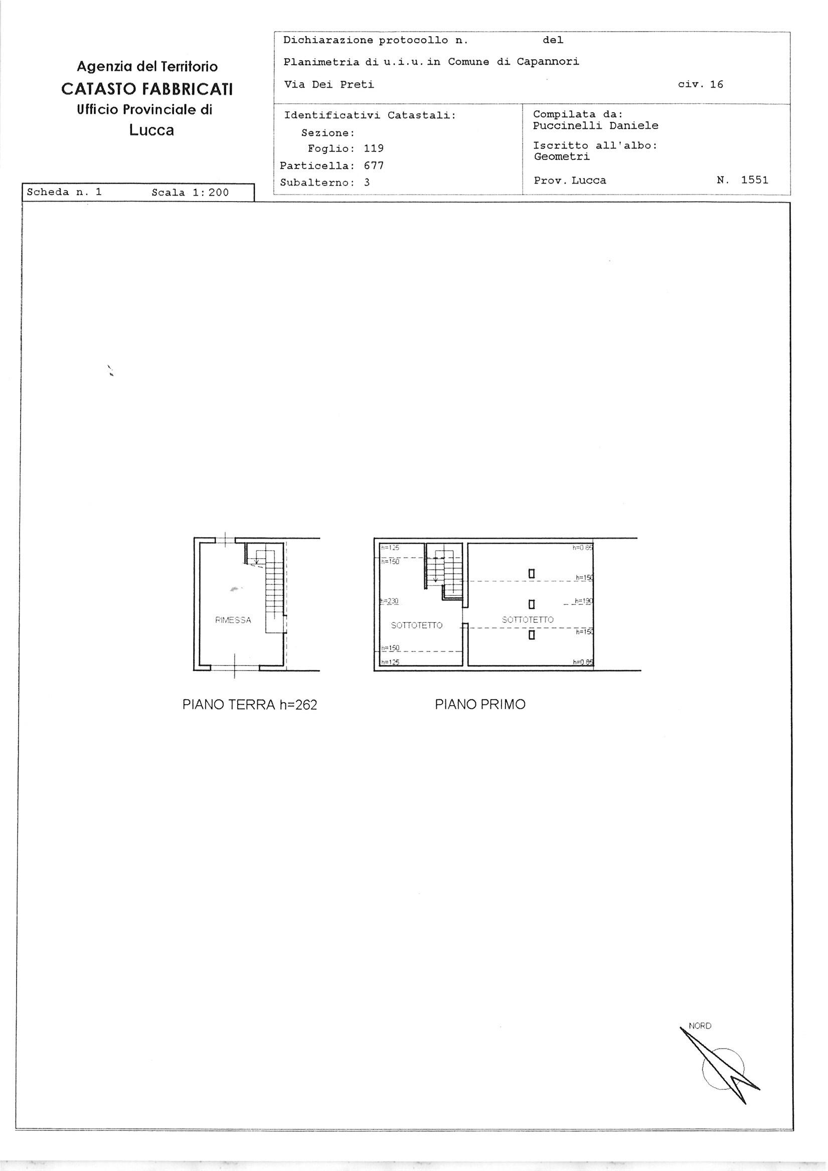 Planimetria 2/3 per rif. CIND SGIN 290