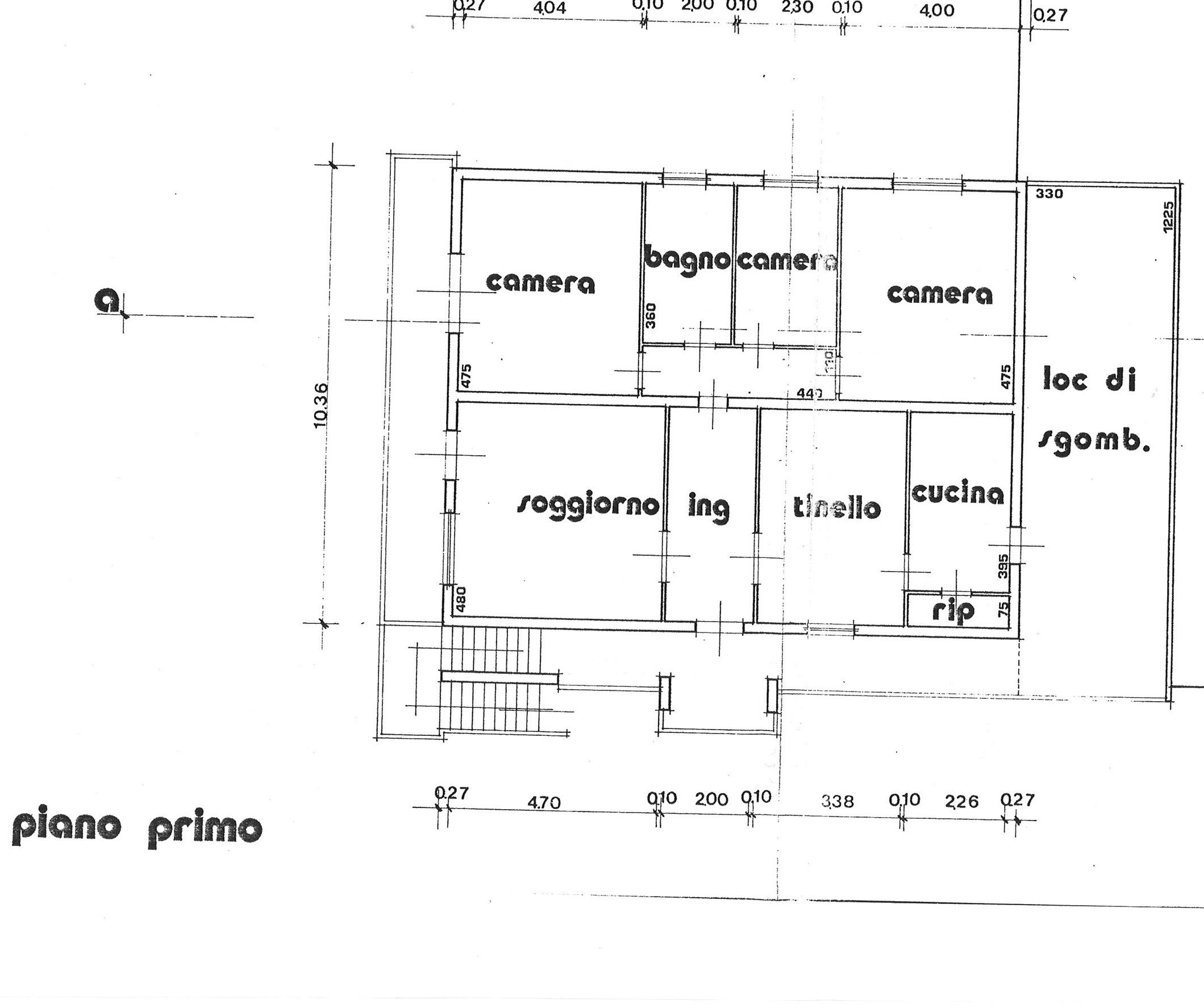 Planimetria 1/1 per rif. ap segr 220c