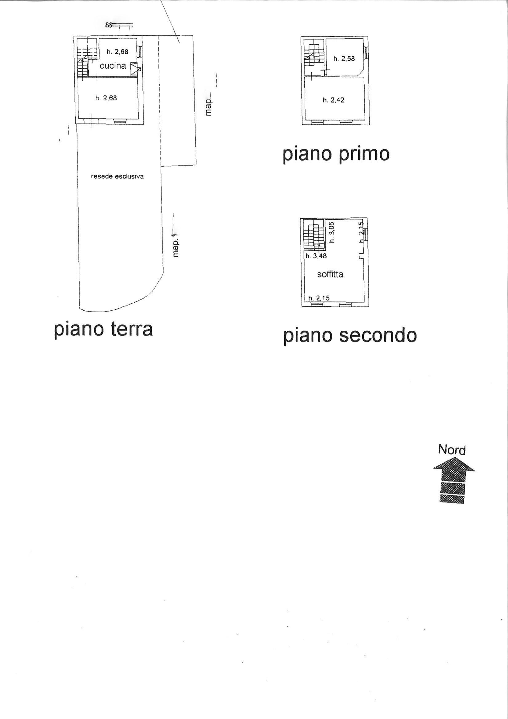 Planimetria 1/1 per rif. trf lun 45